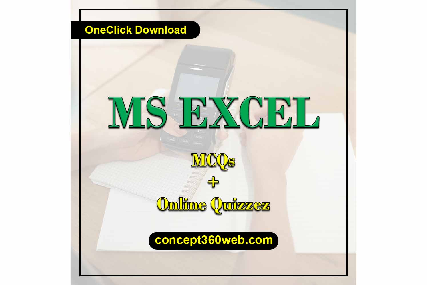 MS Excel MCQs with answers pdf